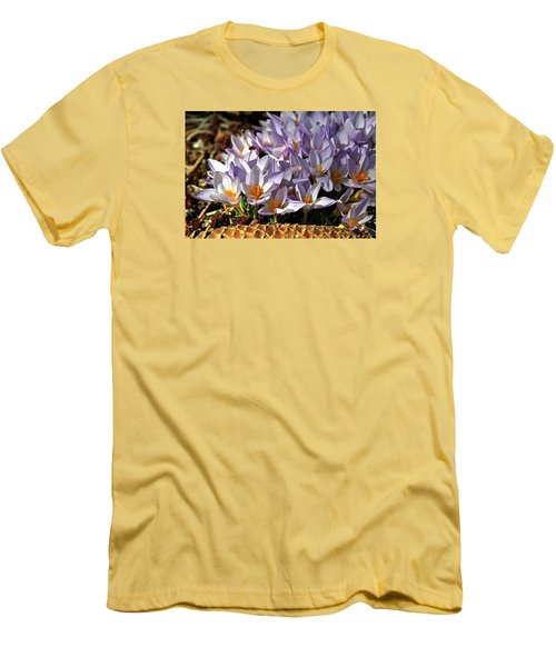 Crocuses Serenade Men's T-Shirt (Slim Fit) by Ed  Riche