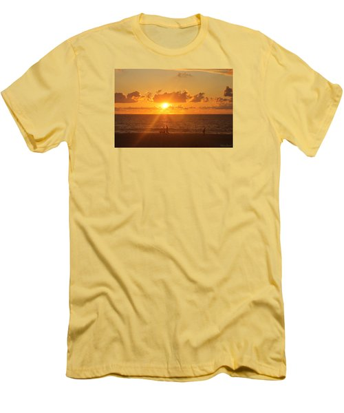 Men's T-Shirt (Slim Fit) featuring the photograph Crossing Paths by Robert Banach