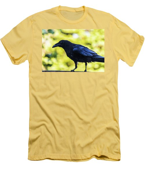 Men's T-Shirt (Athletic Fit) featuring the photograph Crow Perched by Jonny D