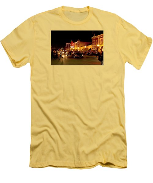 Cruise Night At The Car Show Men's T-Shirt (Slim Fit) by Karen McKenzie McAdoo