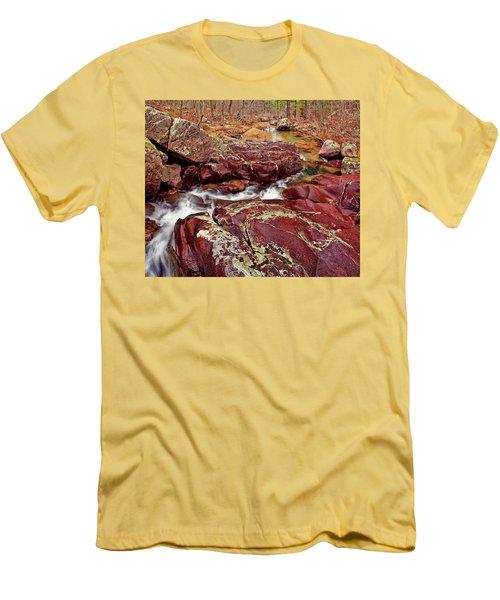 Cub Creek Shut-ins Men's T-Shirt (Slim Fit) by Robert Charity