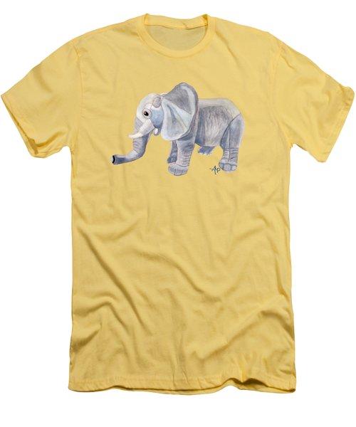 Cuddly Elephant II Men's T-Shirt (Slim Fit) by Angeles M Pomata