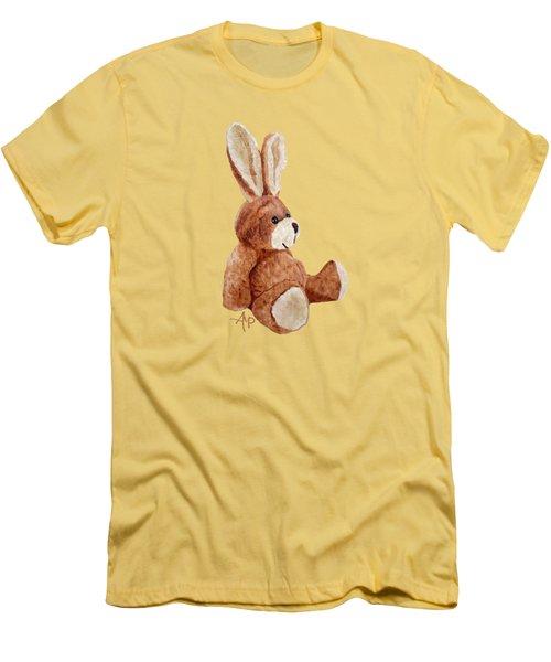Cuddly Rabbit Men's T-Shirt (Slim Fit) by Angeles M Pomata
