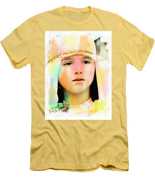 Men's T-Shirt (Slim Fit) featuring the photograph Cuenca Kids 899 by Al Bourassa