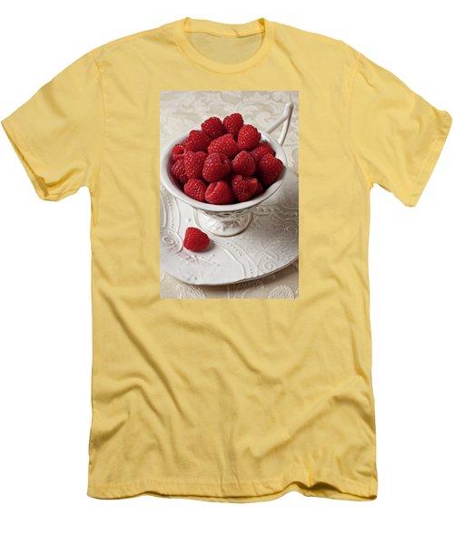 Cup Full Of Raspberries  Men's T-Shirt (Athletic Fit)