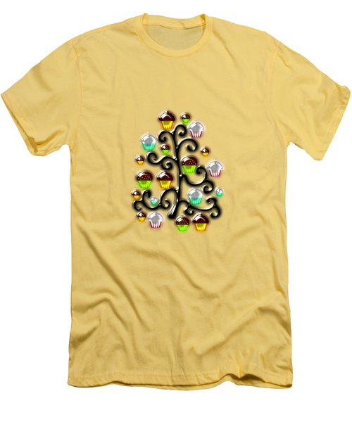 Cupcake Glass Tree Men's T-Shirt (Slim Fit) by Anastasiya Malakhova