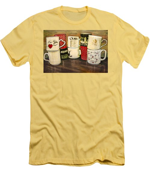 Cups Of Memory Men's T-Shirt (Slim Fit) by Ron Richard Baviello