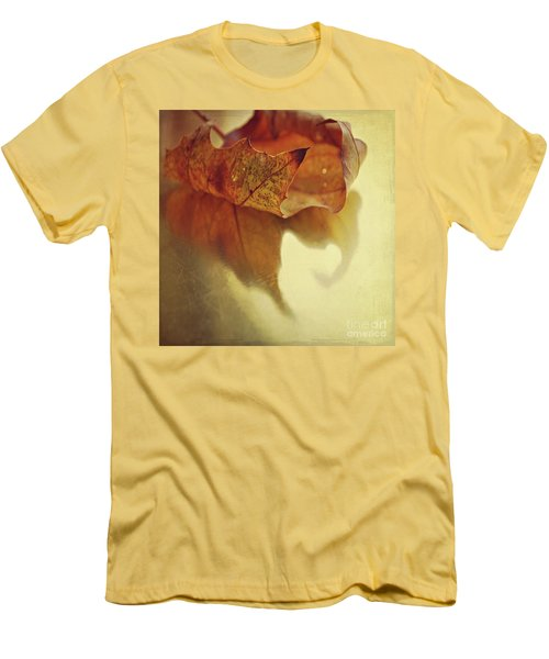 Curled Autumn Leaf Men's T-Shirt (Slim Fit) by Lyn Randle
