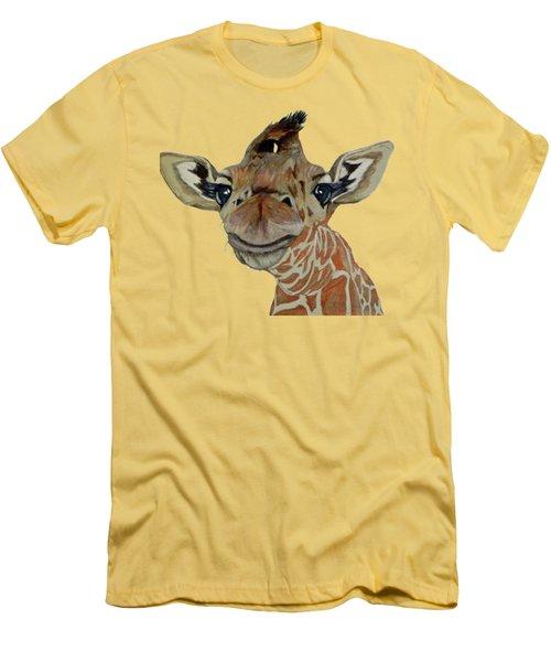 Cute Giraffe Baby Men's T-Shirt (Slim Fit) by M Gilroy