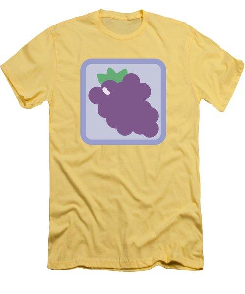 Cute Grapes Men's T-Shirt (Slim Fit) by Caroline Goh