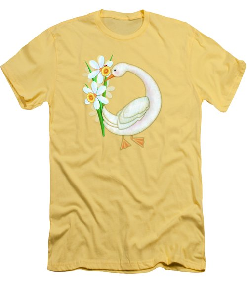 D Is For Duck And Daffodils Men's T-Shirt (Athletic Fit)