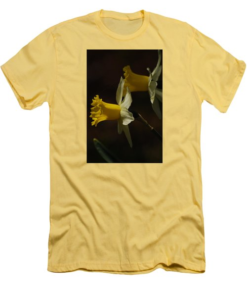 Men's T-Shirt (Slim Fit) featuring the photograph Daffodil by Ramona Whiteaker