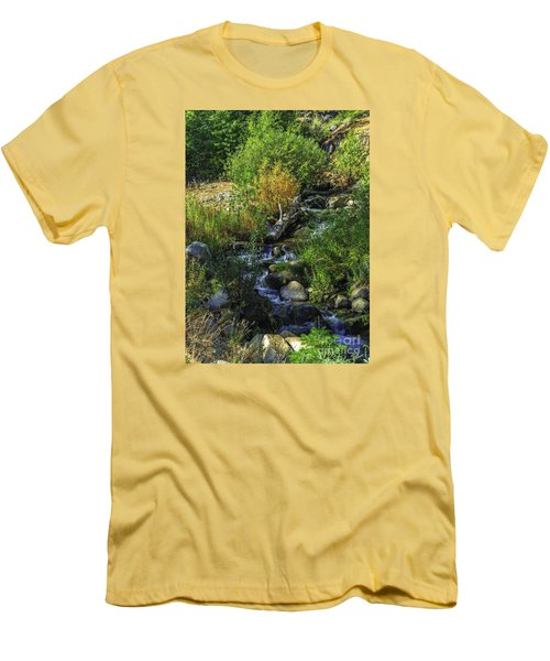 Daily Greens-2 Men's T-Shirt (Slim Fit) by Nancy Marie Ricketts