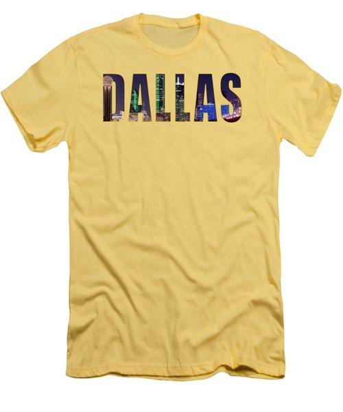 Dallas Letters Transparency 013018 Men's T-Shirt (Athletic Fit)