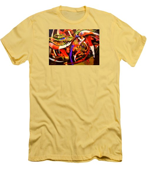 Men's T-Shirt (Slim Fit) featuring the painting Dance Frenzy by Georg Douglas
