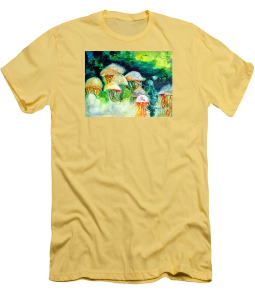 Dance Of The Jellyfish Men's T-Shirt (Slim Fit) by Kathy Braud
