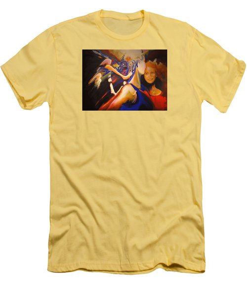 Men's T-Shirt (Slim Fit) featuring the painting Dancers by Georg Douglas