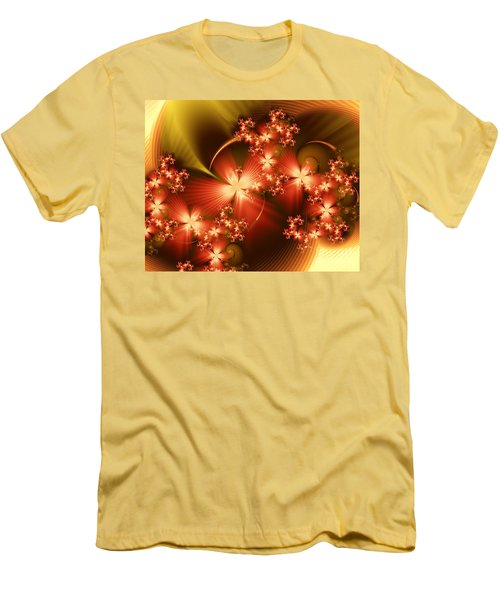 Men's T-Shirt (Slim Fit) featuring the digital art Dancing In Autumn by Michelle H