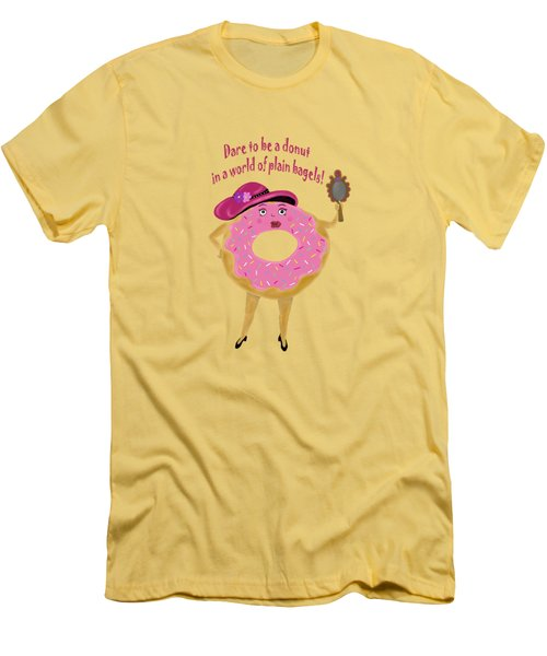 Dare To Be A Donut Men's T-Shirt (Athletic Fit)