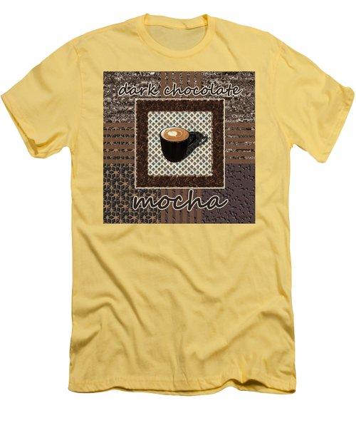 Men's T-Shirt (Athletic Fit) featuring the photograph Dark Chocolate Mocha - Coffee Art by Anastasiya Malakhova