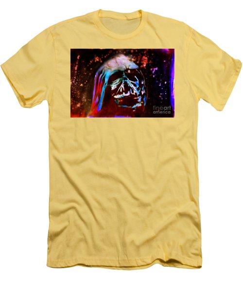 Darth Vader's Melted Helmet Men's T-Shirt (Slim Fit) by Justin Moore
