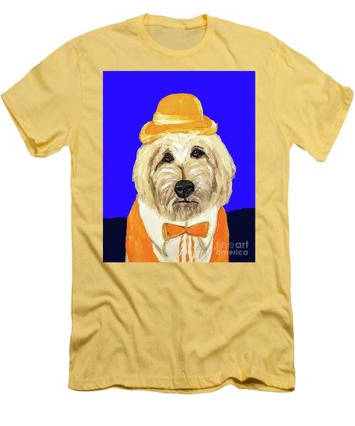 Men's T-Shirt (Slim Fit) featuring the painting Date With Paint Sept 18 6 by Ania Milo