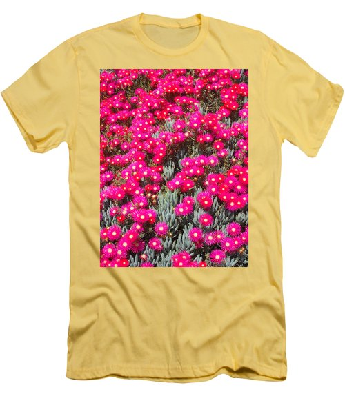 Dazzling Pink Flowers Men's T-Shirt (Slim Fit) by Mark Barclay