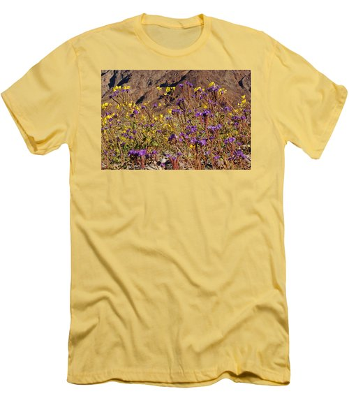 Death Valley Superbloom 401 Men's T-Shirt (Slim Fit) by Daniel Woodrum