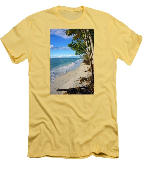 Delnor Wiggins Pass State Park Men's T-Shirt (Slim Fit) by Robb Stan