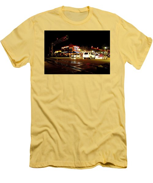 Delray Beach Railroad Crossing Men's T-Shirt (Athletic Fit)