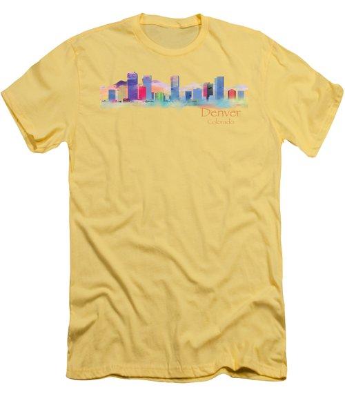 Denver Colorado Skyline Tshirts And Accessories Men's T-Shirt (Slim Fit) by Loretta Luglio