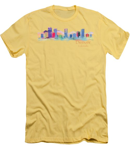Denver Colorado Skyline Tshirts And Accessories Men's T-Shirt (Athletic Fit)