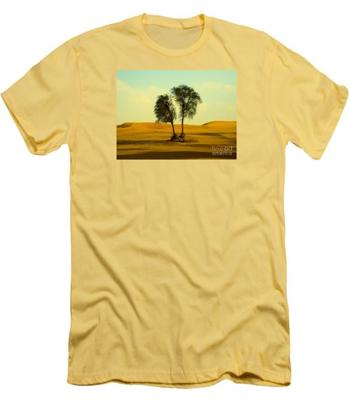 Desert Trees Men's T-Shirt (Athletic Fit)
