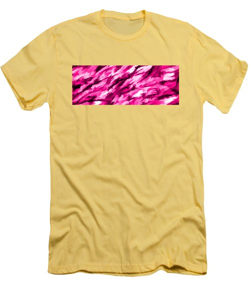 Designer Camo In Hot Pink Men's T-Shirt (Athletic Fit)