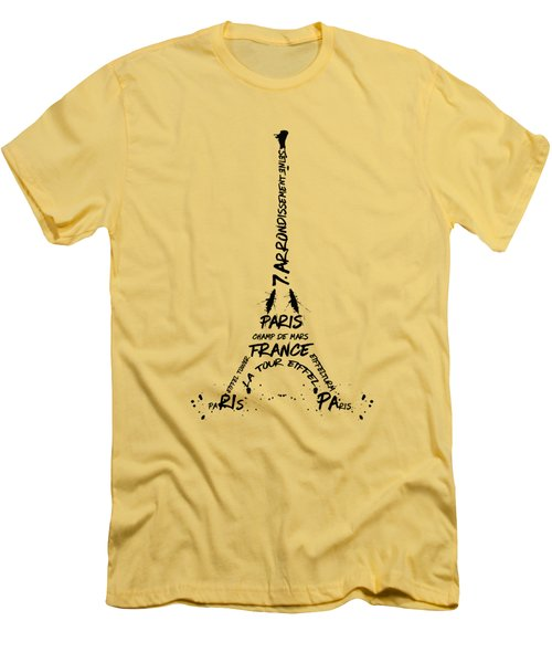 Digital-art Eiffel Tower Men's T-Shirt (Athletic Fit)