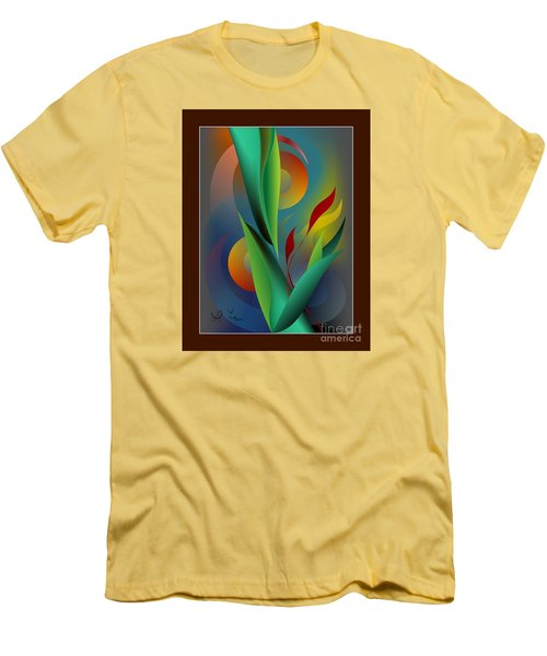 Digital Garden Dreaming Men's T-Shirt (Slim Fit) by Leo Symon