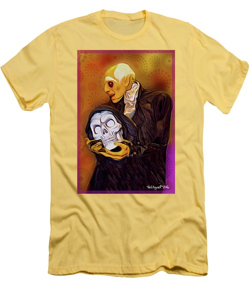 Men's T-Shirt (Slim Fit) featuring the painting Dinner Is Served by Ted Azriel