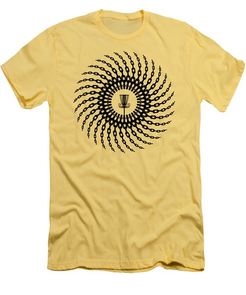 Disc Golf Basket Chains Men's T-Shirt (Slim Fit) by Phil Perkins