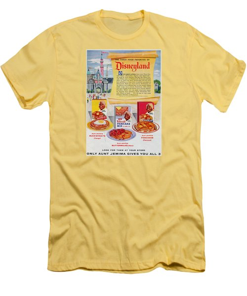 Disneyland And Aunt Jemima Pancakes  Men's T-Shirt (Athletic Fit)