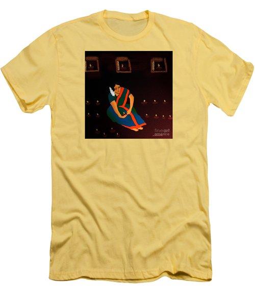 Diwali-the Night Of Diyas Men's T-Shirt (Slim Fit) by Latha Gokuldas Panicker