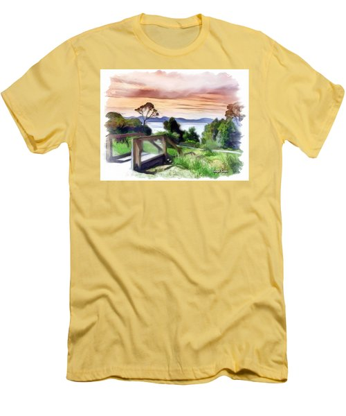 Men's T-Shirt (Slim Fit) featuring the photograph Do-00272 Look Out From Sarah Island by Digital Oil