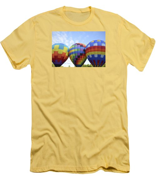 Men's T-Shirt (Slim Fit) featuring the photograph Do We Chance It? by Linda Geiger