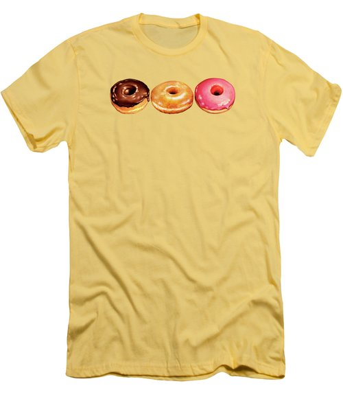 Donut Pattern Men's T-Shirt (Slim Fit) by Kelly Gilleran
