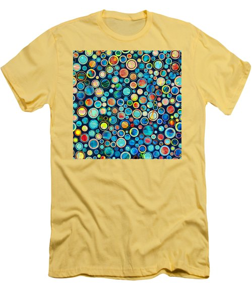 Dots On Painted Background Men's T-Shirt (Athletic Fit)
