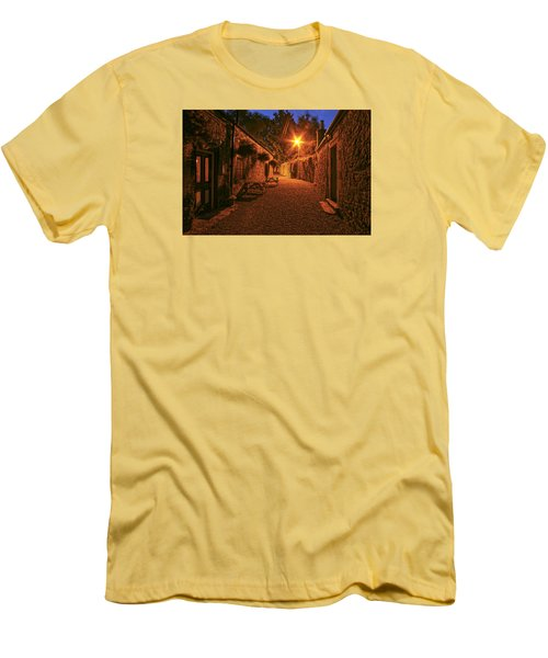 Down The Alley Men's T-Shirt (Slim Fit) by Robert Och