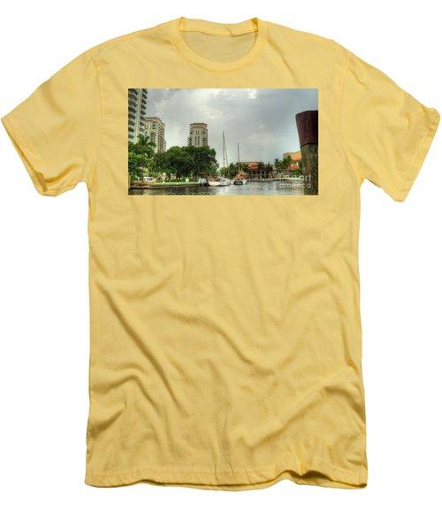 downtown Ft Lauderdale waterfront Men's T-Shirt (Athletic Fit)
