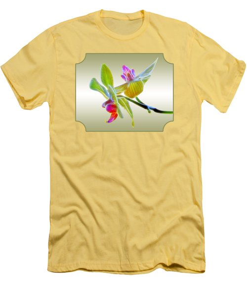 Dragon Glow Orchid Men's T-Shirt (Slim Fit) by Gill Billington
