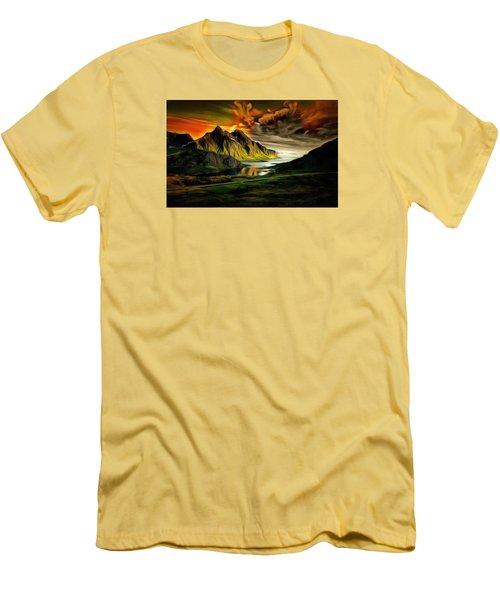 Dramatic Skies Men's T-Shirt (Slim Fit) by Mario Carini