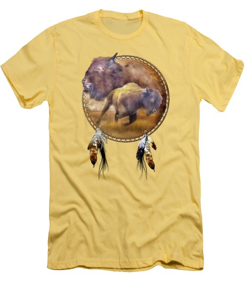 Dream Catcher - Spirit Of The Brown Buffalo Men's T-Shirt (Athletic Fit)