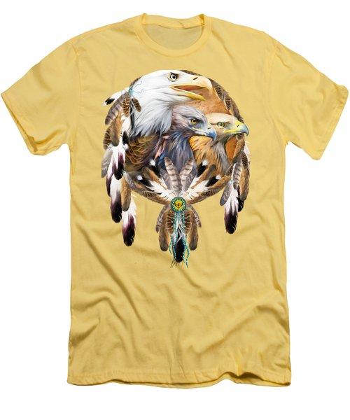 Dream Catcher - Three Eagles Men's T-Shirt (Athletic Fit)